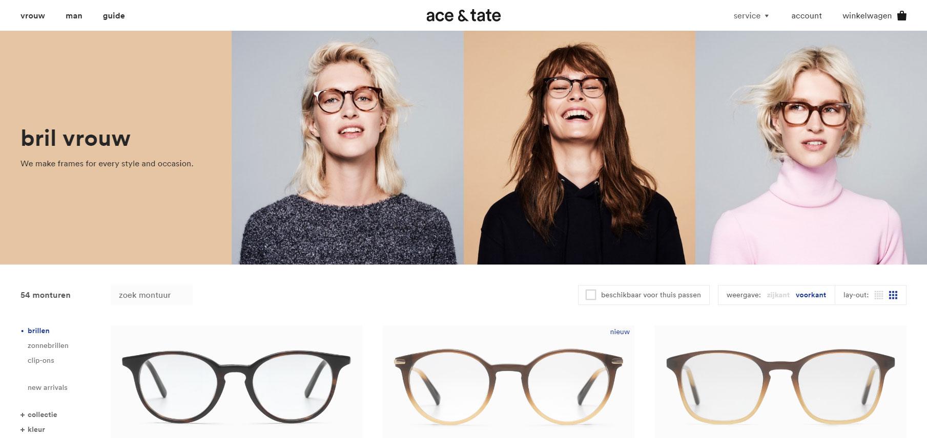 website Ace & Tate